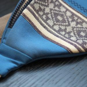 Поясна сумка волошкового кольору
